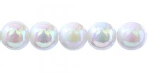 BP2 20mm Valge AB-läikega ümar plasthelmes