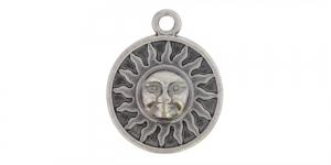 25mm Antiikhõbedane, ümar aasaga medaljon, EG237