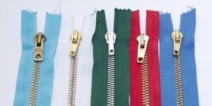 Tõmblukkude komplekt nr.3 Tumeroheline, helesinine, sinine, valge ja punane, 5tk/kmpl, 15cm-16cm