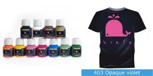 Kattev värv kanga värvimiseks pintsli, tampooni jms abil, Fabric Paint Opaque, 50 ml, Vielo, Värv: violetne fuxiaroosa, #403 Opaque violet