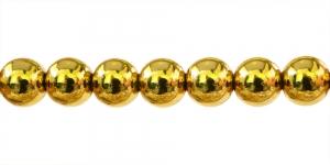 Kuldkollane ümar plasthelmes, 10mm, BJ5