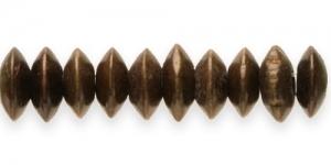 Tumepruun lapik ümara vormiga puithelmes, 13 x 6 mm, IM11