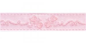 Liblikatega kaunistuspael 30mm, Art.43-PG, värv nr.1 roosa valgel taustal