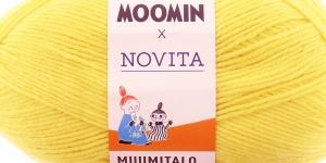 Villasisaldusega sokilõng Muumitalo, Novita, värv 229, Miffle neoonikaskollane