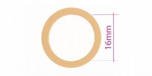 UA24, Muovirenkaat, ns bikinirenkaat tai rintaliivirenkaat, ø16mm, väri: ihon beige