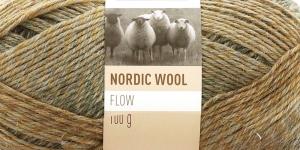 Täisvillane lõng Nordic Wool Flow, Novita, Värv 34, rohekad-hallikad toonid