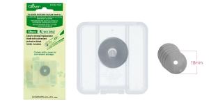 Сменное лезвие, запасные лезвия для нож раскройный, нож дисковый ø18 мм, Clover 7513