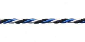 Blue-Black-White Cord ø 6 mm