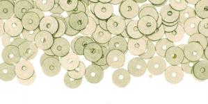 YB41 / Lamedad kettakujulised plastlitrid; siidja läikega hallikasbeeš / ø5mm
