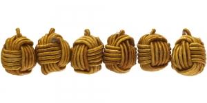 Kollakasbeež põimitud paela kattega helmes,10mm, CB79