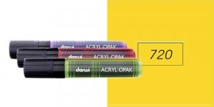 Akrüülvärviga viltpliiats, katva värviga, 15mm, 25ml, Darwi Acryl Opaque, DARK YELLOW 720