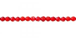 LN1121 4mm Punane, läbipaistev klaashelmes