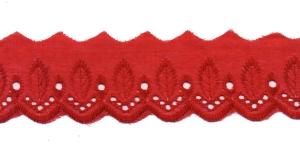 Broderiipits püstiste lehtedega laius 50mm Nr.2 Punane