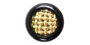 SG9 23 mm Kuldse ja mustaga mustriline nööp