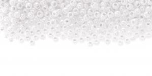 Valged piimjad, kõrgläikega terahelmed TOHO, suurus: 8/0, värv: 141; 8-B-141