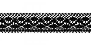 Puuvillane pits 3995-14 laiusega 3 cm, värv must