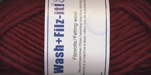 Viltimislõng Wash+Filz-It; Värv 6 (Tumepunane), Schachenmayr