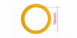 UA15, Muovirenkaat, ns bikinirenkaat tai rintaliivirenkaat, ø16mm, tumma keltainen