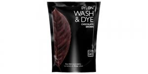 Konepesuväri DYLON Wash & Dye, sis. suolan, 350 g, suklaanruskea