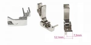 Kõrge kruvikinnitusega (tööstusliku õmblusmasina standard) vasaku piirajaga tald, 12 mm, KL0842