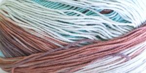 Puuvillasisaldusega pehme lõng, Cotton Gold Batik Design; Värv 4603 (Mindiroheline-helepruun-roheline) / Alize