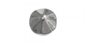 Hõbedane, metallist nööp, 23mm, 36L, SFF219