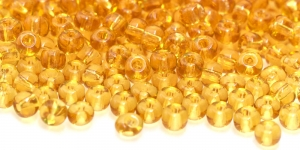 Terahelmed, seemnehelmed,Nr.4 (4.8-5.3 mm), Preciosa Kuldsed läbipaistvad HG8