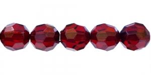 AG13 18mm Tumepunane läbipaistev tahuline akrüülkristall