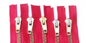 Tõmblukkude komplekt nr.4 Punased 5tk/kmpl, 15cm-16cm