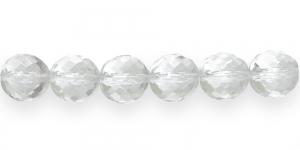 Ümar tahuline klaaspärl, Tšehhi, 18mm, Värvitu läbipaistev, LJ4