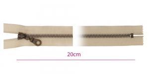 1825ОХ, Metallivetoketju, kiinteä, pituus 20cm, beige, patinoitu pronssi
