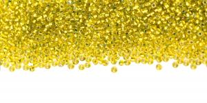 Terahelmed, Kollakasrohelised, läbipaistvad seest hõbedased, läikivad, Nr.13 (1,6-1,8mm), Preciosa HM132