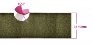 Sew on LOOP tape 38 - 40 mm, olive green #42