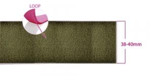 Õmmeldav takjapael, pehme pool LOOP, laius 38 - 40 mm, oliivroheline #42