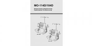 Kasutusjuhend / Brugsanvisning / Käyttöohjekirja FIN DAN NOR SVE Juki MO-104D/114D