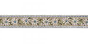 Linahall pael valgete, siniste õitega, Art.9451150, värv 261