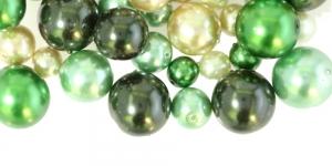 LL106 4-12mm Helerohelistes pärmuttertoonides pärlitest segu