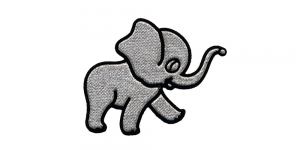 AH38 7,5x6,5 cm Hõbedane elevant, Silver Elephant