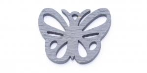 Liblikakujuline Tumehall puitdetail, 25 mm, IO109