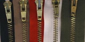 Tõmblukkude komplekt nr.1 Tumeroheline,oliivroheline,beez, valge ja punane, 5tk/kmpl, 15cm-16cm