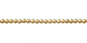 Kuldne matt läbipaistmatu plasthelmes, 3mm, BQ14