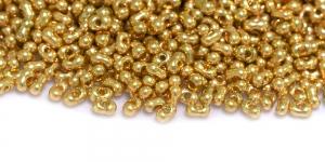 Farfalle, Kuldsed läbipaistmatud, 2 x 4 mm, HR79A