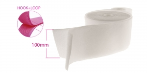 Sew on hook and loop, both tapes, 100 mm, white