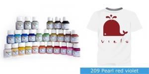 Pärlmuttervärv kanga värvimiseks, Fabric Paint Pearl, 50 ml, Vielo, Värv: tumepunane, #209 Pearl red violet