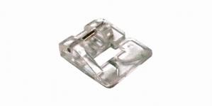 Kitsama pärlikanaliga läbipaistev pärliketi/nööri õmblemise tald, (ø kuni...2.5 mm), Janome ja Elna õmblusmasinatele õmbluslaiusega max. 7 mm E24