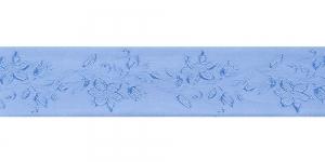 Jacquard satin ribbon, Art.38968, color No. Blue