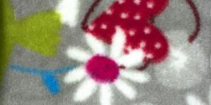 34 Hall lindude ja lilledega Pehme fliis