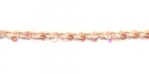 Kootud litritega kaunistuspael AA116/34398/ laiusega 1cm Roosakas, kreemjasvalge