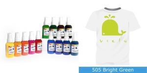 Spreivärvid kanga värvimiseks/ Fabric Paint Spray, 50 ml, Vielo, Värv: erk limeroheline, #505 Bright Green