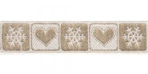 Südame- ja lumehelbemustriga kaunistuspael 30mm, Art.226-PG, värv nr.4